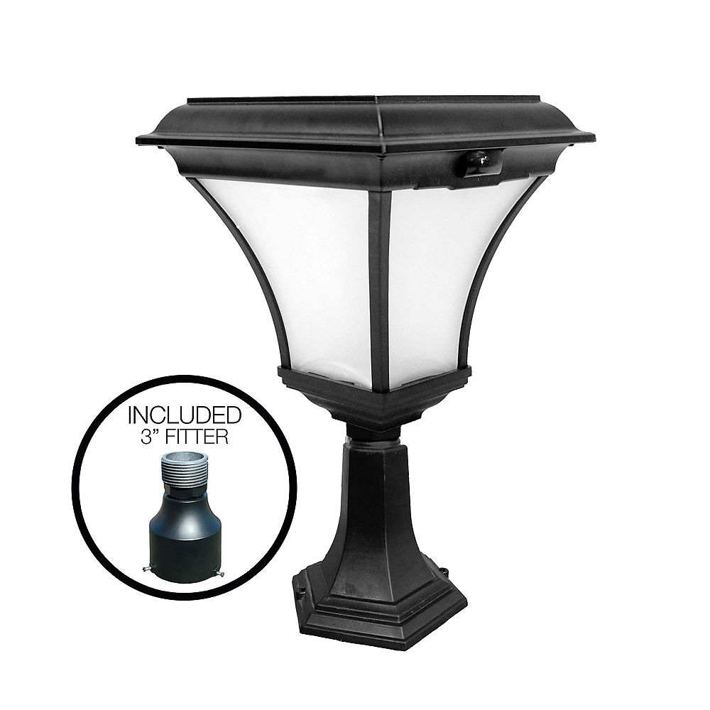 Nature Power Kona Solar Lamp with 3 Inch Pole Fitter and Deck Mount