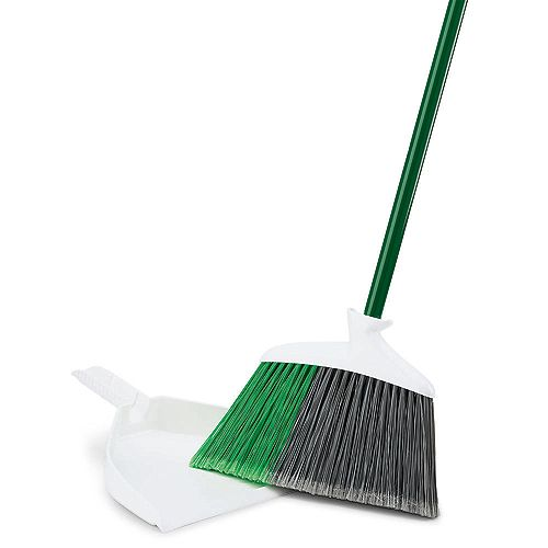 Libman Precision In Out Angle Broom with Dustpan