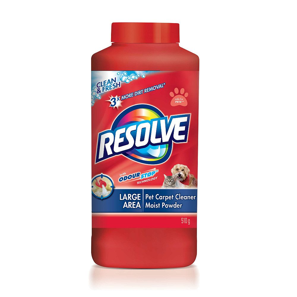 Resolve Pet, Dog & Cat Carpet Cleaner with Odour Stop, Clean & Fresh, Powder, 510 g