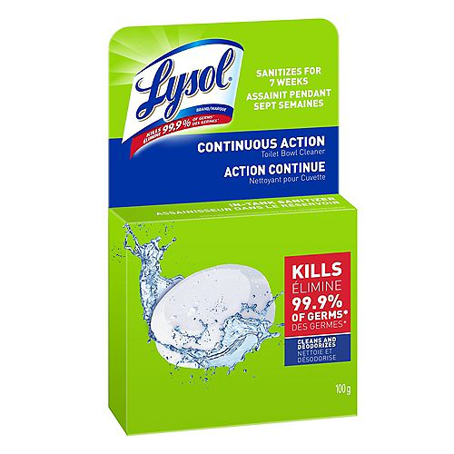 Lysol Toilet Bowl Cleaner, Continuous Action Puck, 100 g