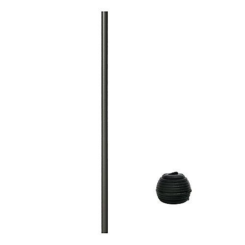 32 po Balustre en aluminium Rond avec connecteurs Fastball - 15/paquet - Bronze