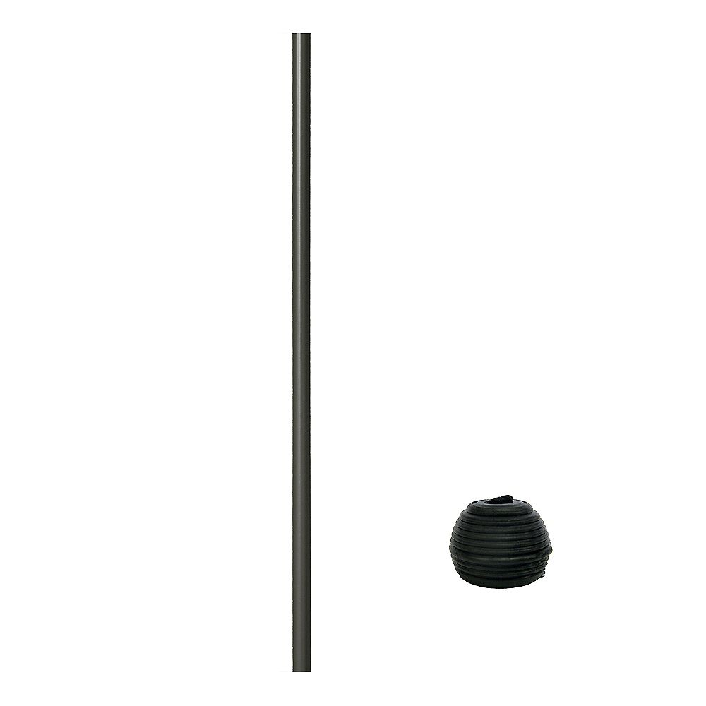 Veranda 32 in Aluminum Baluster Round with Fastball Connectors included in Bronze (15-Pack)