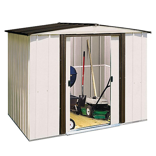 Arrow 8 ft. x 6 ft. Steel Shed
