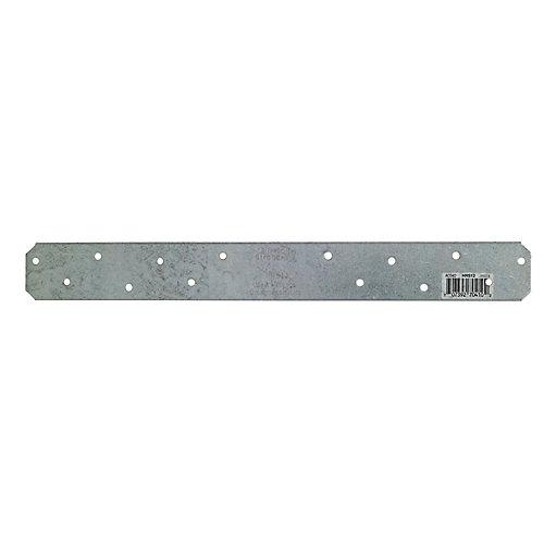 HRS 12 inch 12-Gauge Galvanized Heavy Strap Tie