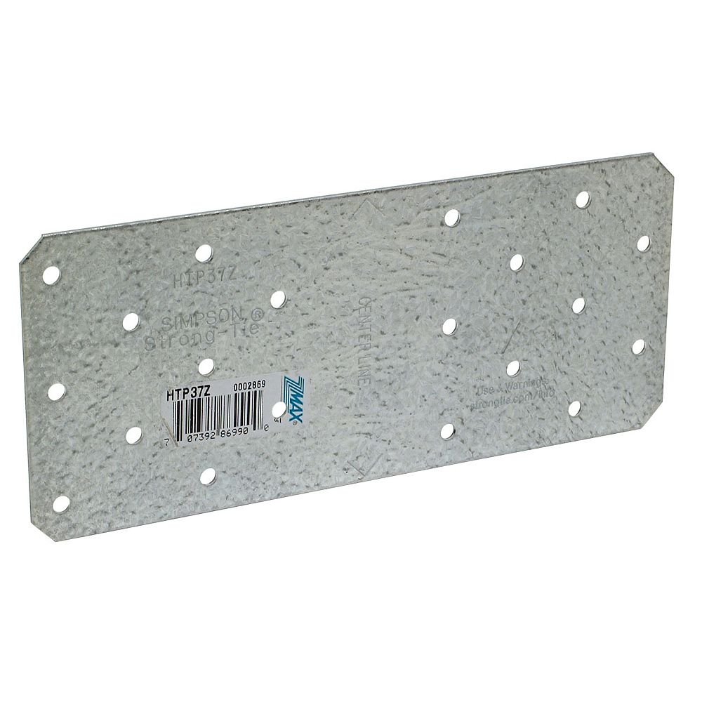 Simpson Strong-Tie HTP 3 inch x 7 inch ZMAX Galvanized Heavy Tie Plate
