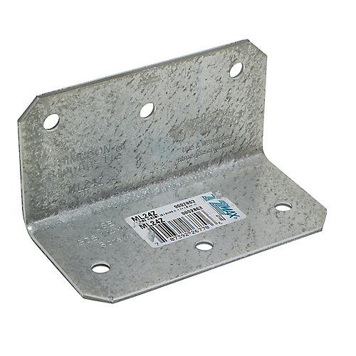 ML 2 inch x 4 inch 12-Gauge ZMAX Galvanized Medium L Angle