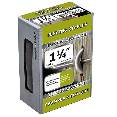 1 1/4-inch Fence Staple-Electro Galvanized-420g (approx. 80  pieces per package)