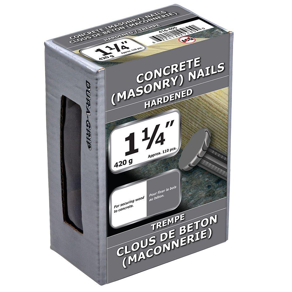 Paulin Clous à béton 1-1/4 pouce Bright FInish - 420g (environ 118 pcs. par paquet)