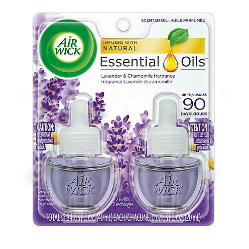 Plug-in Air Freshener, Scented Oil Refills, Lavender & Chamomile, 2 Refills