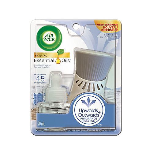 Plug-in Air Freshener, Scented Oil Kit, Crisp Linen Kit, 1 Plug-in + 1 Refill