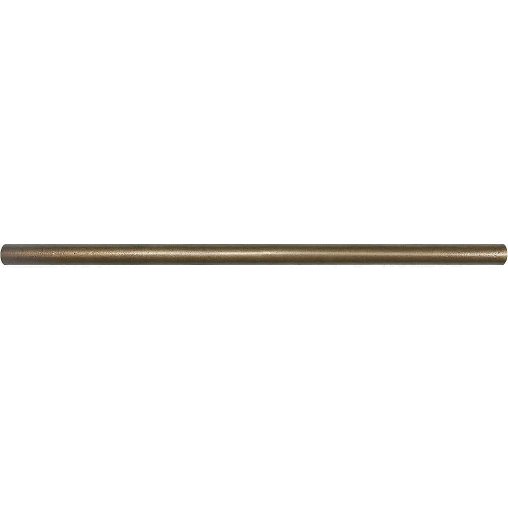 Enigma 5/8-inch x 12-inch Metal Pencil Tile in Cast Bronze