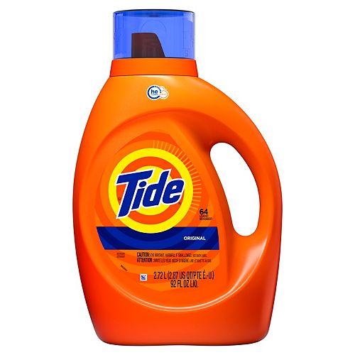 Liquid Laundry Detergent, Original, 64 loads 2.72 L
