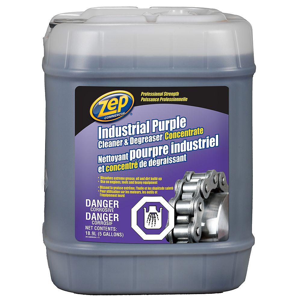 Zep Commercial Industrial Purple Cleaner and Degreaser - 18.9 L