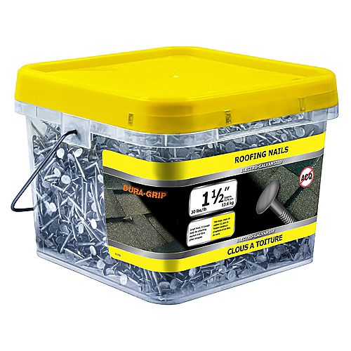 1 1/2-inch Roofing Nail-Electro Galvanized-30lb (approx. 5170  pieces per package)
