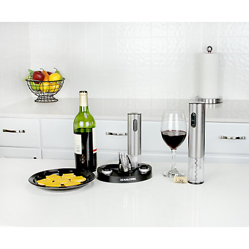 Wine Lovers Set with Electric Corkscrew and Stoppers