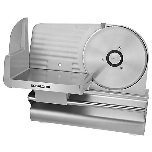 7 1/2-inch Meat Slicer in Silver with 1/32-inch to 1/2-inch Thickness Adjustment