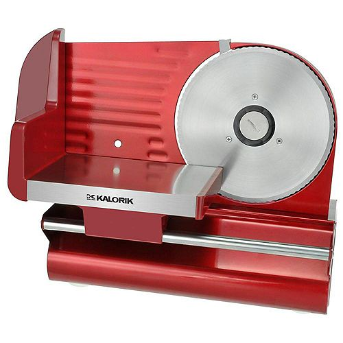 200W Adjustable Thickness Meat Slicer in Red