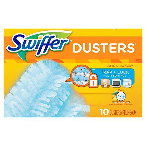 Swiffer Recharges multi-surfaces Swiffer Dusters 180, parfum Agrumes sucrés et entrain, 10 unités