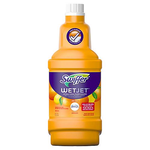 WetJet Multi-Purpose Floor and Hardwood Liquid Cleaner Solution Refill, with Sweet Citrus & Zest, 1.25 L