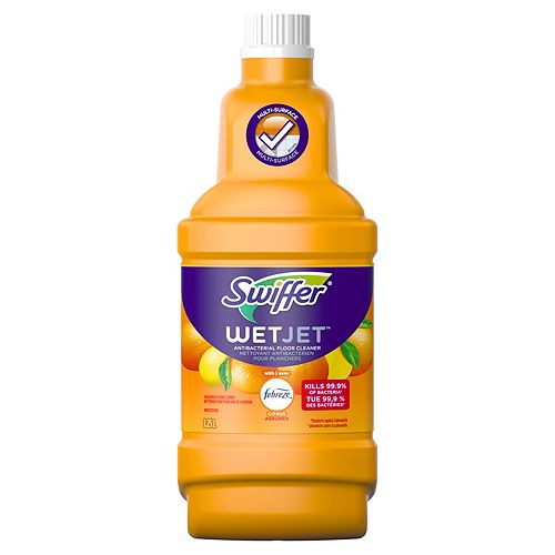 1.25 L WetJet Multi-Purpose Floor and Hardwood Liquid Cleaner Solution Refill, with Sweet Citrus & Zest