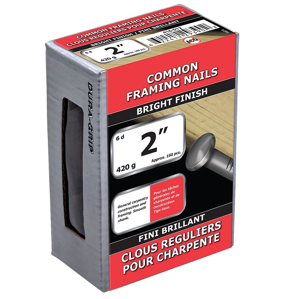 Paulin 2-inch (6d) Common Framing Nails Bright Finish - 420g (approx. 161 pcs. per package)