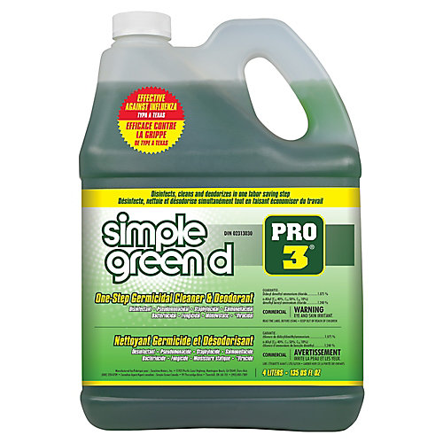 Pro 3 One-Step Germicidal Cleaner & Deodorant, 4L