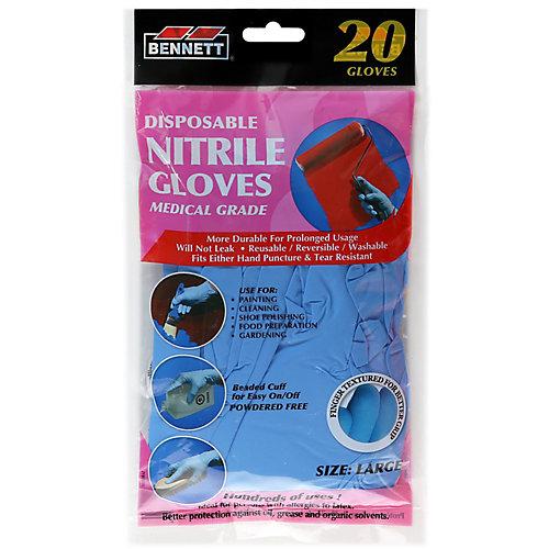 Nitrile Disposable Gloves (20-Pack)