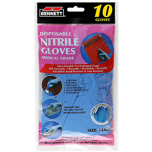 Nitrile Disposable Gloves (10-Pack)