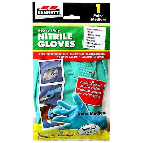 1 Pair Medium Nitrile Gloves