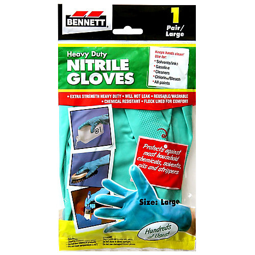 1 Pair Large Nitrile Gloves