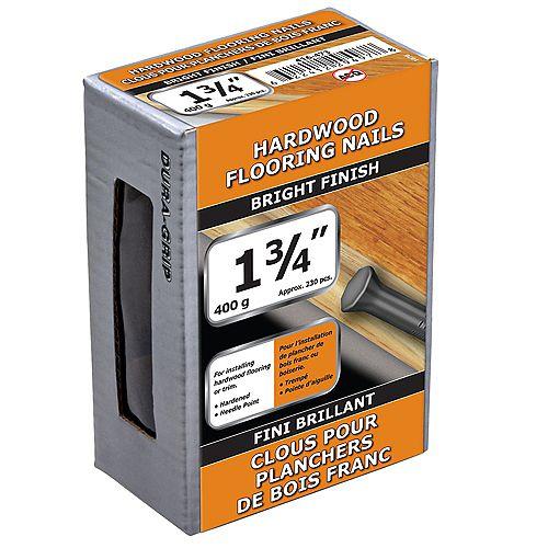 Clous pour parquet en bois dur de 1-3/4 pouce finition brillante - 400g (environ 233 pcs. par paquet)