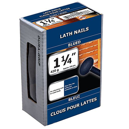 1-1/4-inch Lath Nails Blued - 420g (approx. 326 pcs. per package)