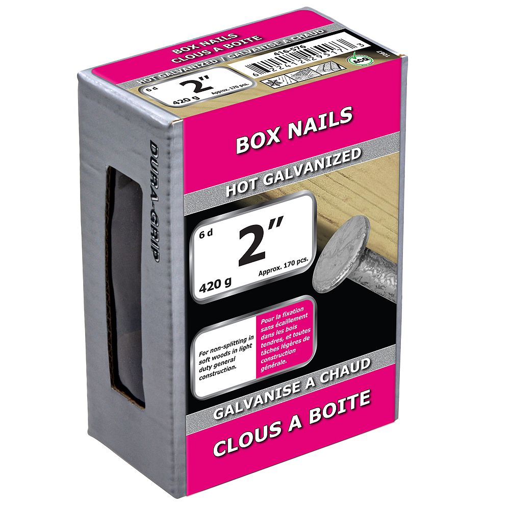 Paulin 2-inch (6d) Box Nails Hot Galvanized - 420g (approx. 178 pcs. per package)