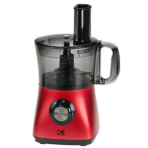 Robot de Cuisine Rouge Capacité de 8 tasses