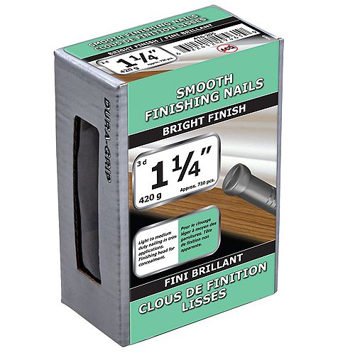 Paulin 1-1/4-inch (3d) Smooth Finishing Nails Bright Finish - 420g (approx. 737 pcs. per package)