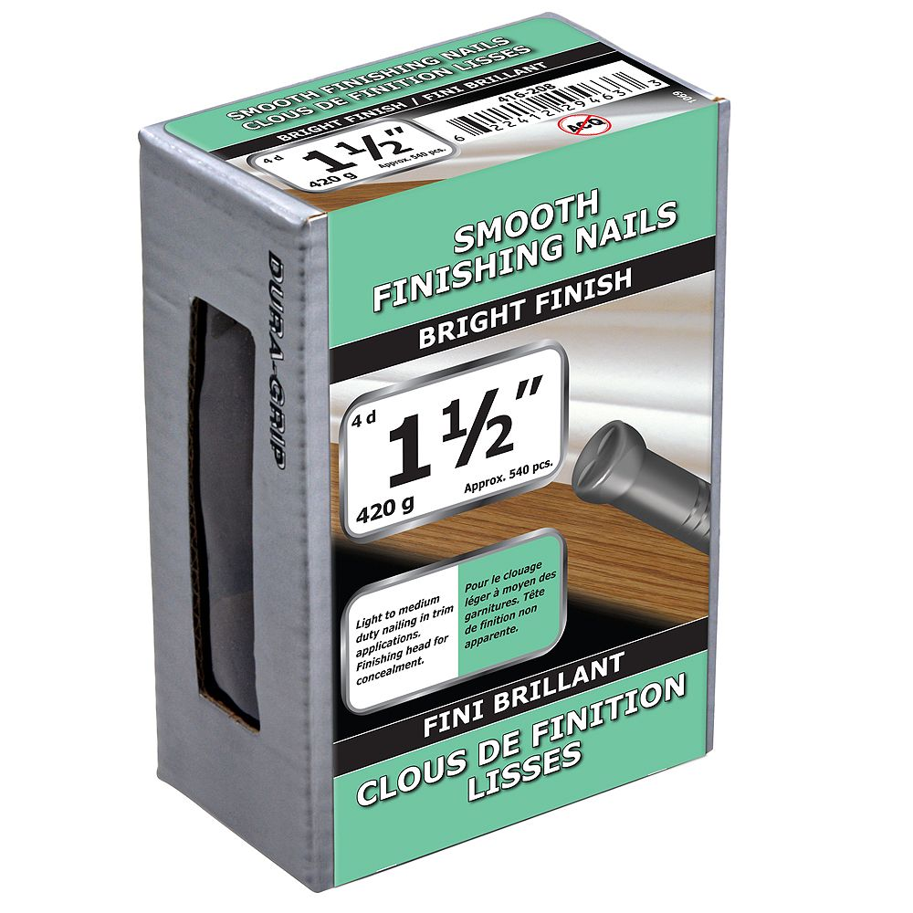 Paulin 1-1/2-inch (4d) Smooth Finishing Nails Bright Finish - 420g (approx. 540 pcs. per package)