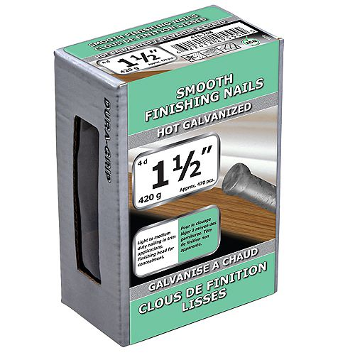 Paulin 1-1/2-inch (4d) Smooth Finishing Nails Hot Galvanized - 420g (approx. 472 pcs. per package)