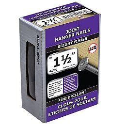 Clous de suspension pour solives 1-1/2 pouce (N8) Finition brillante - 420g (environ 172 pcs. par paquet)