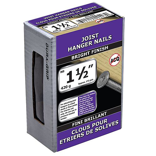 1 1/2-inch (4d) Joist Hanger Nail-Bright Plated-420g (approx. 172  pieces per package)