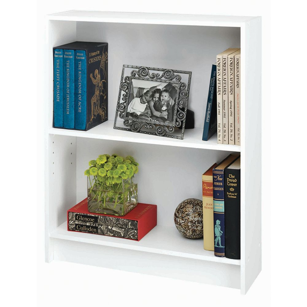 Talon 2 Shelf Bookcase -White