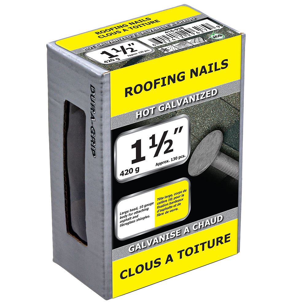 Paulin 1-1/2-inch Roofing Nails Hot Galvanized - 420g (approx. 134 pcs. per package)