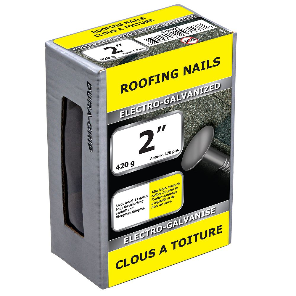 Paulin 2-inch Roofing Nails Electro Galvanized - 420g (approx. 126 pcs. per package)