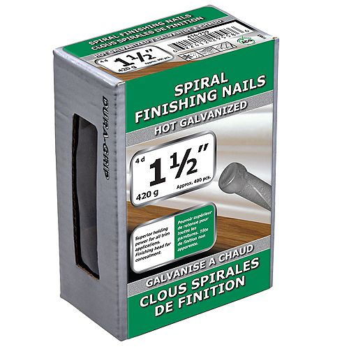 Paulin 1-1/2-inch (4d) Spiral Finishing Nails Hot Galvanized - 420g (approx. 403 pcs. per package)