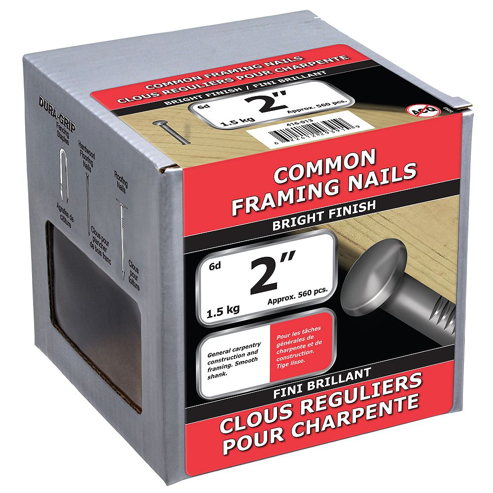 Paulin 2-inch (6d) Common Framing Nails Bright Finish - 1.5kg (approx. 566 pcs. per package)
