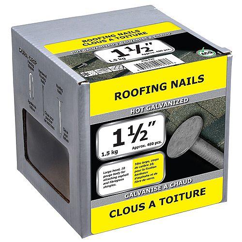 """1 1/2"""" Roofing Hot Galv 10GA 1.5kg"""