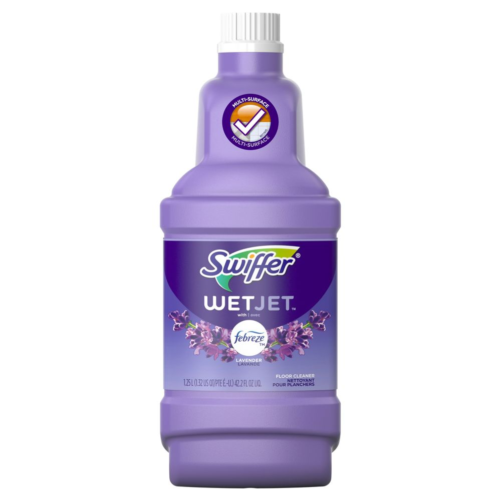 WetJet Multi-Purpose and Hardwood Liquid Floor Cleaner Solution Refill, Lavender Vanilla & Comfort, 1.25 L