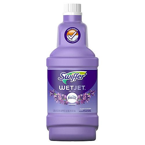 WetJet Multi-Purpose and Hardwood Liquid Floor Cleaner Solution Refill, Lavender Vanilla & Comfort, 1.25 L