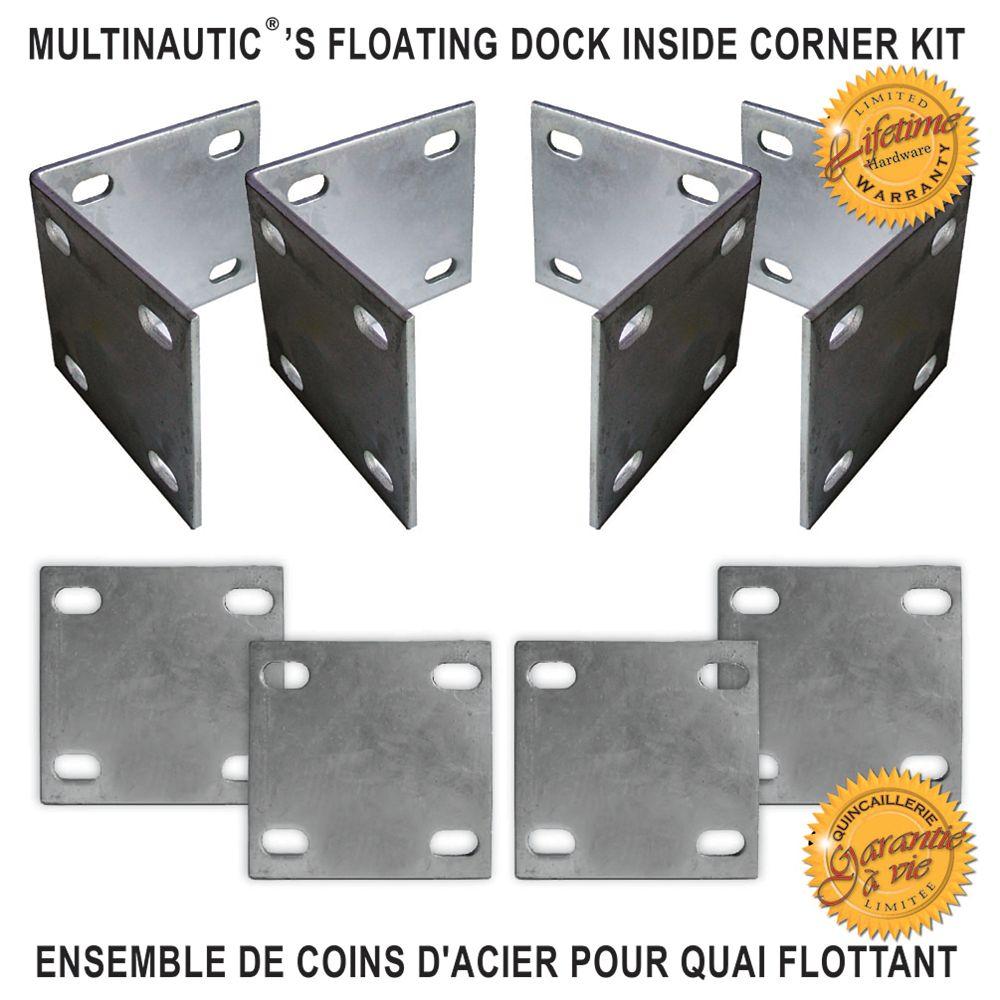 Multinautic Heavy Duty Floating Dock Inside Corner Kit