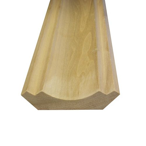Solid Poplar Crown 3/4 Inches x 3-1/2 Inches (Price per linear foot)