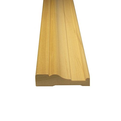 Solid Poplar Casing 3/4 Inches x 2-3/4 Inches (Price per linear foot)